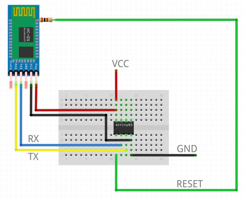 Upload Arduino Or Avr Programs To Attiny84 85 Over Uart Ladviens Lab Pin Diagram Wire It Up