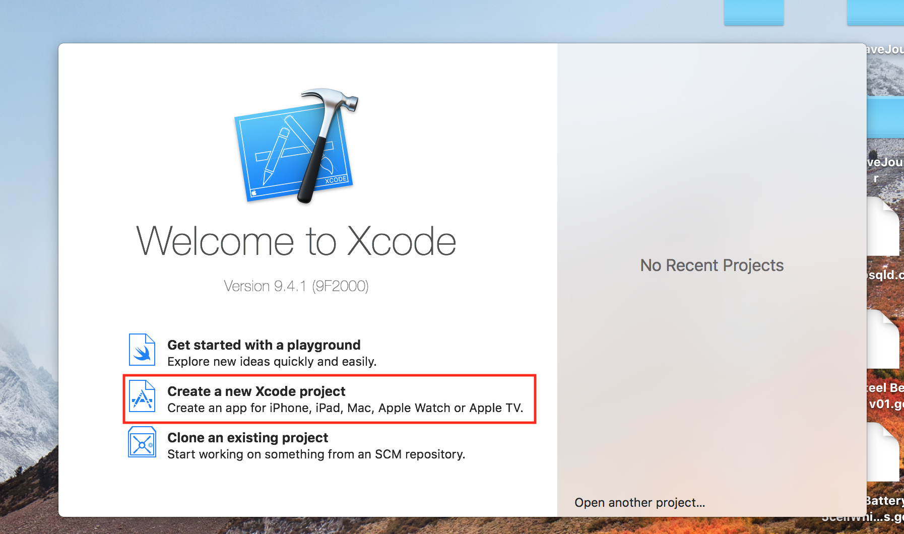 xcode-project-start